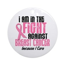 In The Fight 1 BC (Because I Care) Ornament (Round