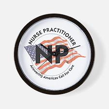 Patriotic Nurse Practitioner Wall Clock