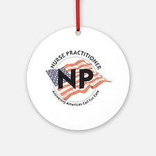 Patriotic Nurse Practitioner Keepsake (Round)