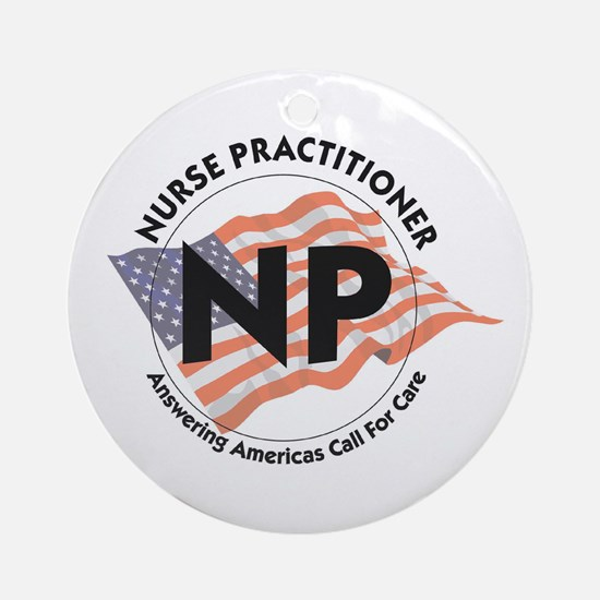 Patriotic Nurse Practitioner Keepsake (Round)