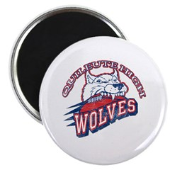 """Quileute High Wolves 2.25"""" Magnet (100 pack)"""