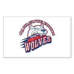 Quileute High Wolves Rectangle Sticker 10 pk)