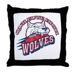 Quileute High Wolves Throw Pillow