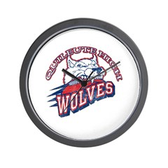 Quileute High Wolves Wall Clock