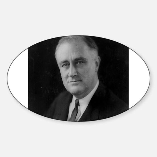 Franklin Roosevelt Oval Decal