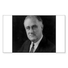 Franklin Roosevelt Rectangle Decal