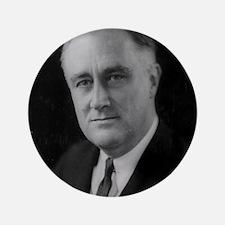 """Franklin Roosevelt 3.5"""" Button (100 pack)"""