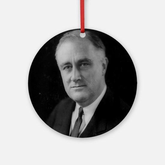 Franklin Roosevelt Ornament (Round)