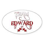 Team Edward Oval Sticker (10 pk)