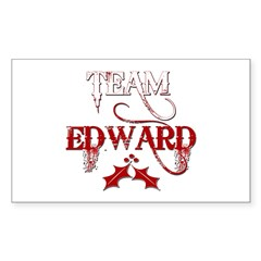 Team Edward Rectangle Decal