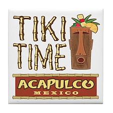 Acapulco Tiki Time - Tile Coaster