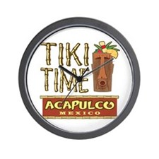 Acapulco Tiki Time - Wall Clock