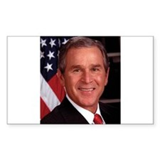 George W. Bush Rectangle Decal