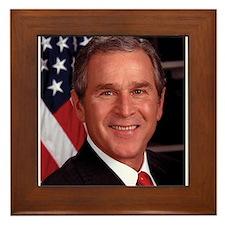 George W. Bush Framed Tile