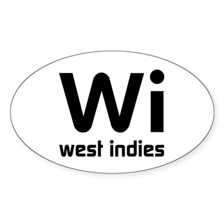 Wi (West Indies) Oval Sticker