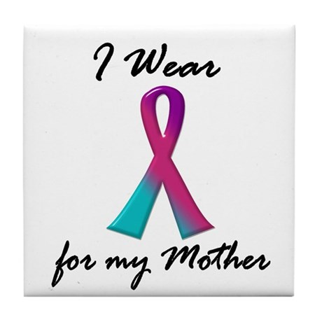 I Wear A Thyroid Ribbon 1 (Mother) Tile Coaster