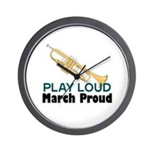 Play Loud March Proud Trumpet Wall Clock
