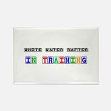 White Water Rafter In Training Rectangle Magnet