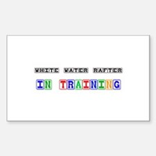 White Water Rafter In Training Rectangle Decal