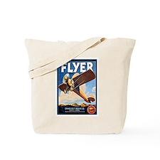 Vintage Airplane Tote Bag