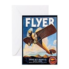 Vintage Airplane Greeting Card