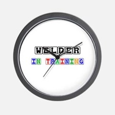 Welder In Training Wall Clock