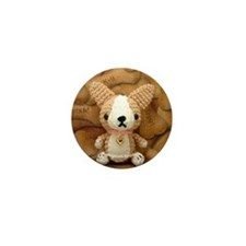 Amigurumi Corgi Puppy Dog Button
