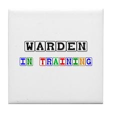 Warden In Training Tile Coaster