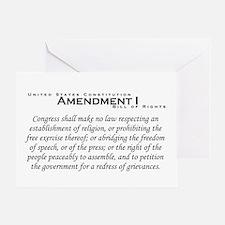 Amendment I Greeting Card