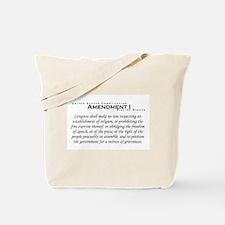 Amendment I Tote Bag