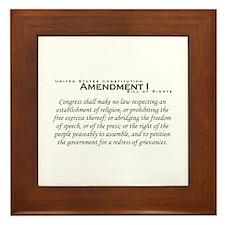 Amendment I Framed Tile