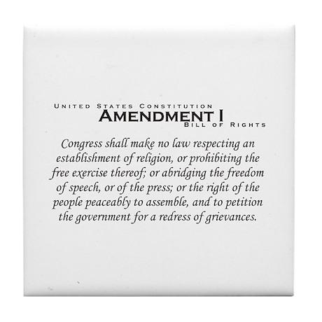 Amendment I Tile Coaster
