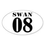 Team Swan Jersey Oval Sticker (50 pk)
