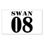 Team Swan Jersey Rectangle Sticker 10 pk)