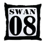 Team Swan Jersey Throw Pillow