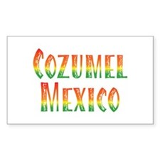 Cozumel Mexico - Rectangle Decal