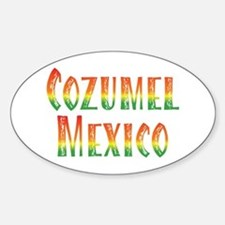 Cozumel Mexico - Oval Decal