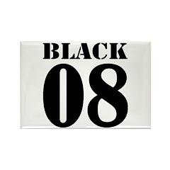 Team Black Jersey Rectangle Magnet (10 pack)