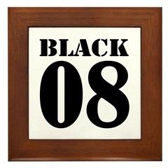 Team Black Jersey Framed Tile
