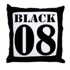 Team Black Jersey Throw Pillow