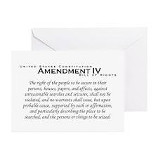 Amendment IV Greeting Cards (Pk of 10)