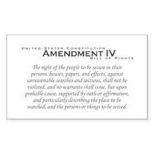 Amendment IV Rectangle Decal