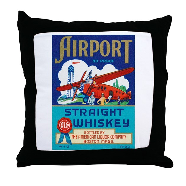 Vintage Airplane Throw Pillow by zoomwear