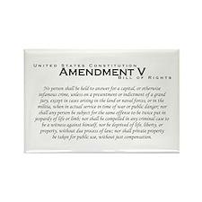 Amendment V Rectangle Magnet