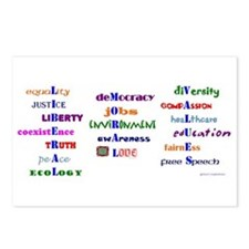 Liberal Moral Values Postcards (Package of 8)