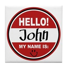 Hello my name is John Tile Coaster