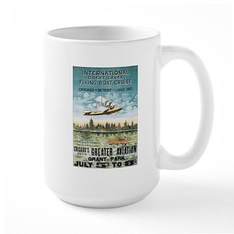 Vintage Airplane Large Mug