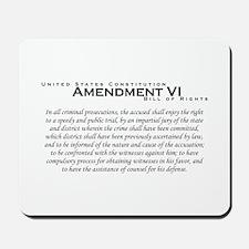 Amendment VI Mousepad
