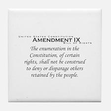 Amendment IX Tile Coaster