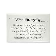 Amendment X Rectangle Magnet
